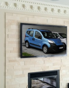 Fireplace TV Installation involves conducting a site survey to explain the installation process to the client before we begin.